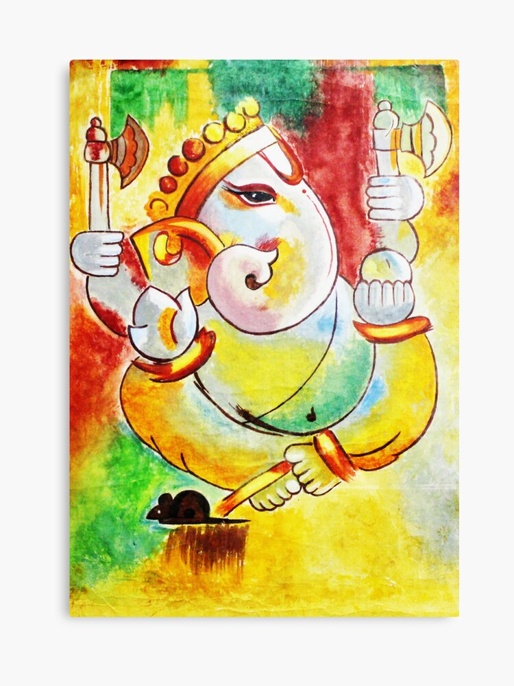 Ganesha Paintings Modern Art On Canvas