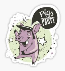 pig's party Sticker