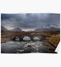 Old Sligachan Bridge, Isle of Skye, Scotland Poster