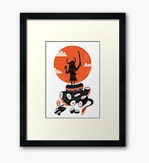 Samurai Sushi Framed Print
