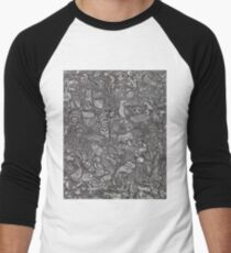 Animalia  Men's Baseball ¾ T-Shirt
