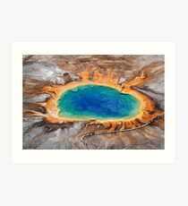 Grand Prismatic Spring - Aerial in Yellowstone Art Print