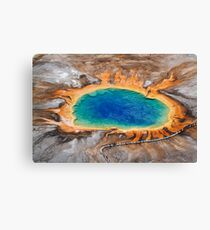 Grand Prismatic Spring - Aerial in Yellowstone Canvas Print
