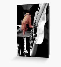 Bass Guitarist Greeting Card