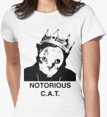 Notorious C.A.T. Womens Fitted T-Shirt