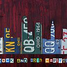 Cleveland Skyline License Plate Art by designturnpike