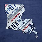 Louisiana License Plate Map by designturnpike