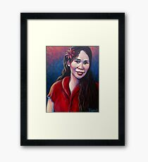 """""""Joan"""" 2011 - acrylic on canvas Framed Print"""