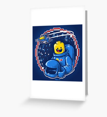 Portrait of a Space-Man Greeting Card