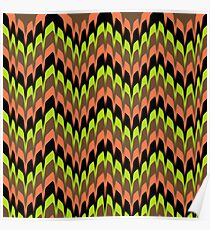 Yellow, Orange, Green, and Brown Abstract Poster