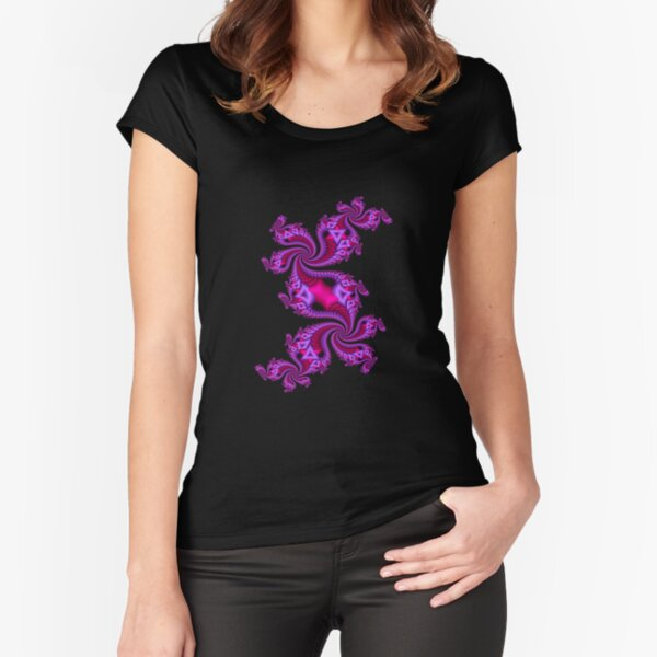Spiral Staircase Fitted Scoop T-Shirt