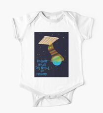 Belgian spaceship holding the world to ransome.  One Piece - Short Sleeve