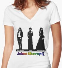 Jaime Murray characters (rainbow) - Warehouse 13, Spartacus, Defiance Women's Fitted V-Neck T-Shirt