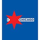I ✶ Chicago iPad Case (Blue) by Chicago Tee