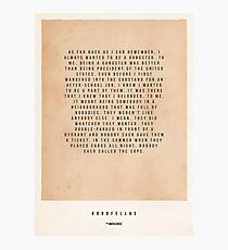 Goodfellas Movie Poster Photographic Print