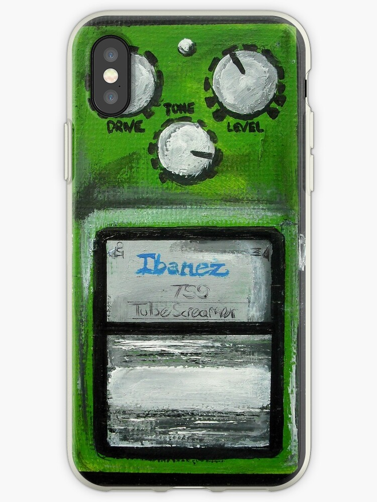 'Ibanez Tube Screamer Acrylics On Canvas Board' iPhone Case by JamesPeart
