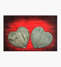 Stone Hearts Photographic Print