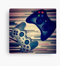 Console Yourself - PS2 & Xbox 360 Controllers Canvas Print