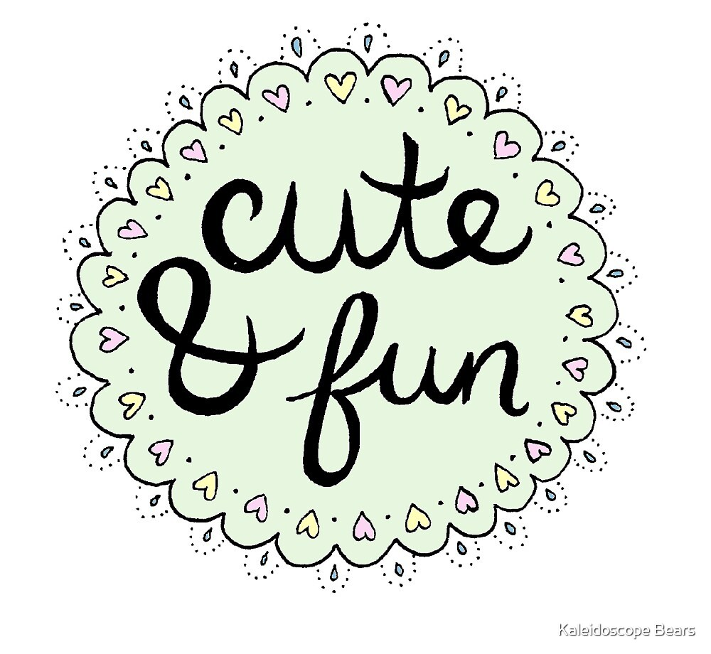 cute and fun by kaleidoscope bear