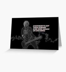 Michael - Jet Black Heart Greeting Card