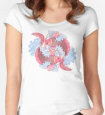 Koi pair - large Women's Fitted Scoop T-Shirt