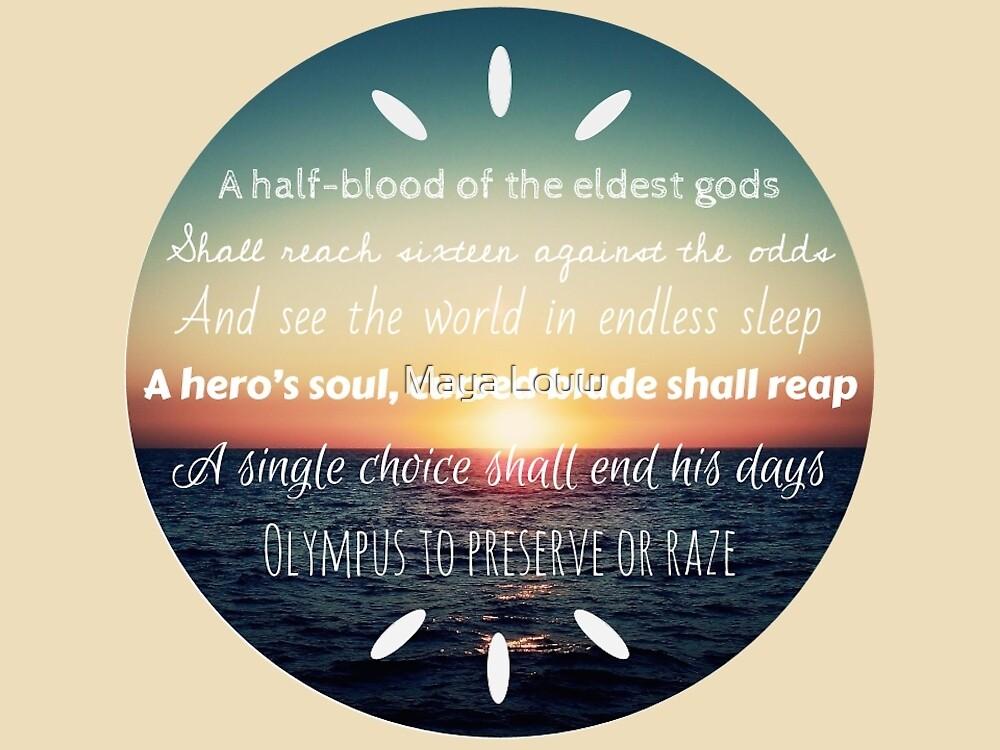 Percy Jackson Prophecy Sunset 2 by MewMewMaya