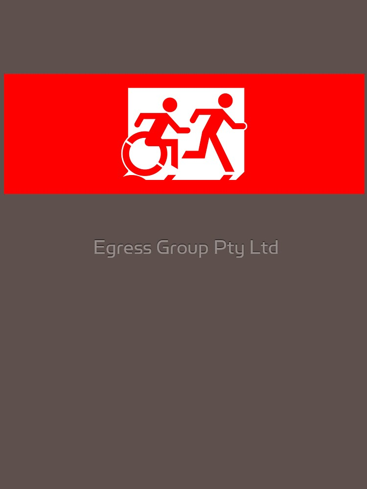 Accessible Means of Egress Icon and Running Man Emergency Exit Sign, Right Hand by LeeWilson