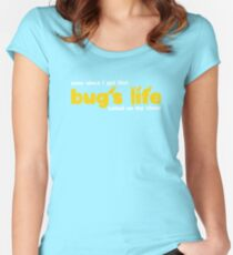 Bug's Life tatted on my chest Women's Fitted Scoop T-Shirt