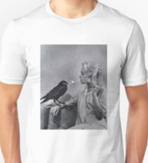 Tippi Hedren having her cigarette lit by a crow on the set of The Birds T-Shirt