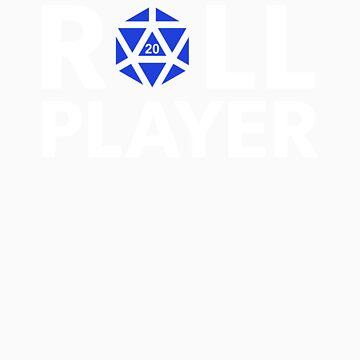Roll Player Blue d20 by NaShanta