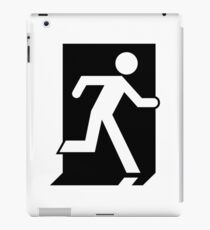 Running Man Emergency Exit Sign, Right Hand iPad Case/Skin