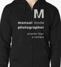 M = smarter than a camera Zipped Hoodie