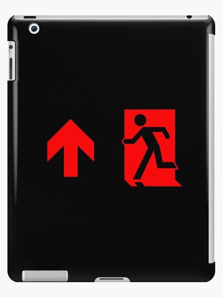 Running Man Emergency Exit Sign, Left Hand Up Arrow by Egress Group Pty Ltd