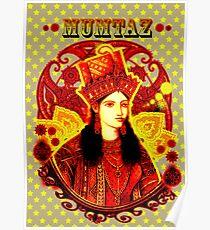 Mumtaz Mahal Pop Art Poster