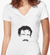 Her is Spike Jonze Women's Fitted V-Neck T-Shirt