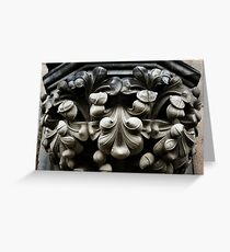 Carefully Carved Capital Greeting Card