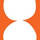 Stacked circles in orange by LauraMalkasian