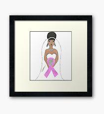 Breast Cancer greeting card Framed Print