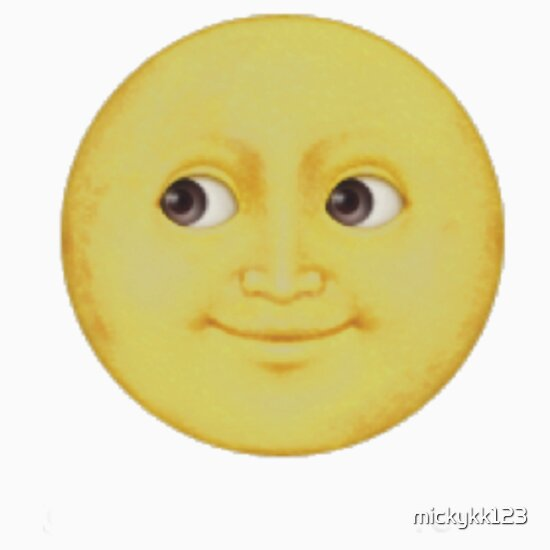 yellow moon emoji - photo #8