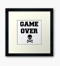 Game Over Skull & Crossbones Framed Print