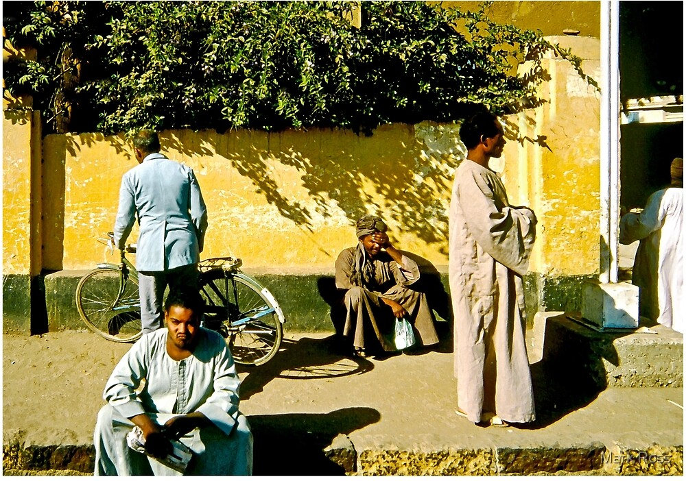 Men In Waiting, Morocco by Mark Ross