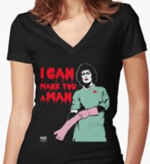 I Can Make You A Man Women's Fitted V-Neck T-Shirt