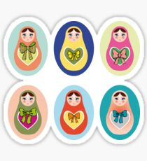 doll matryoshka Sticker