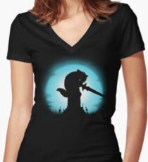 GRAVESTONE GUARDIAN Women's Fitted V-Neck T-Shirt