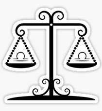 Libra Balance Sticker
