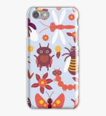Funny insects Spider butterfly caterpillar dragonfly mantis beetle wasp ladybugs  iPhone Case/Skin
