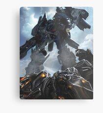 Power Up optimus prime Metal Print