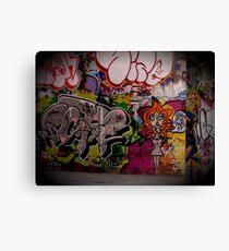 Graffiti, London, England   Wacky Canvas Print