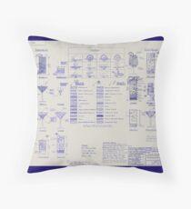 Mixologists' Blueprint Throw Pillow