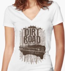 Why don't we do it on the road Women's Fitted V-Neck T-Shirt